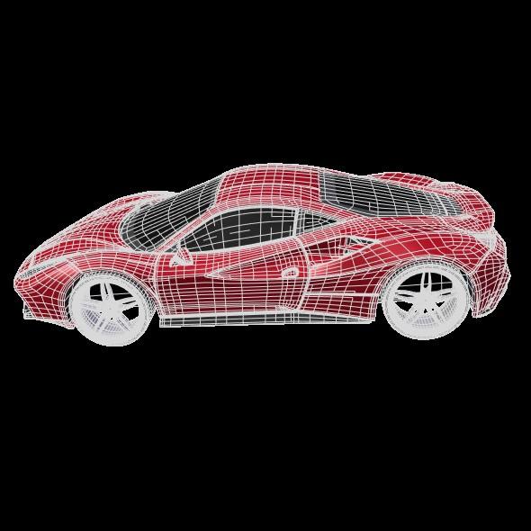 ferrari 488 gtb sports car restyled 3d model 3ds fbx blend dae lwo obj 218247