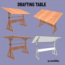 Drafting Table FBX + OBJ ( 248.32KB jpg by uncle808us )