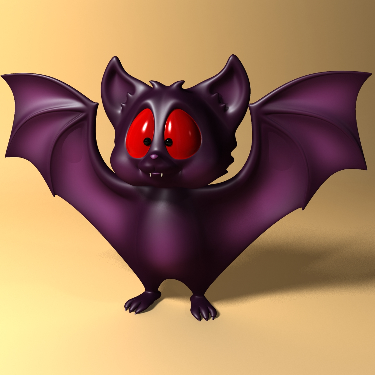 cartoon bat rigged and animated 3d model 3ds max fbx  obj 218275