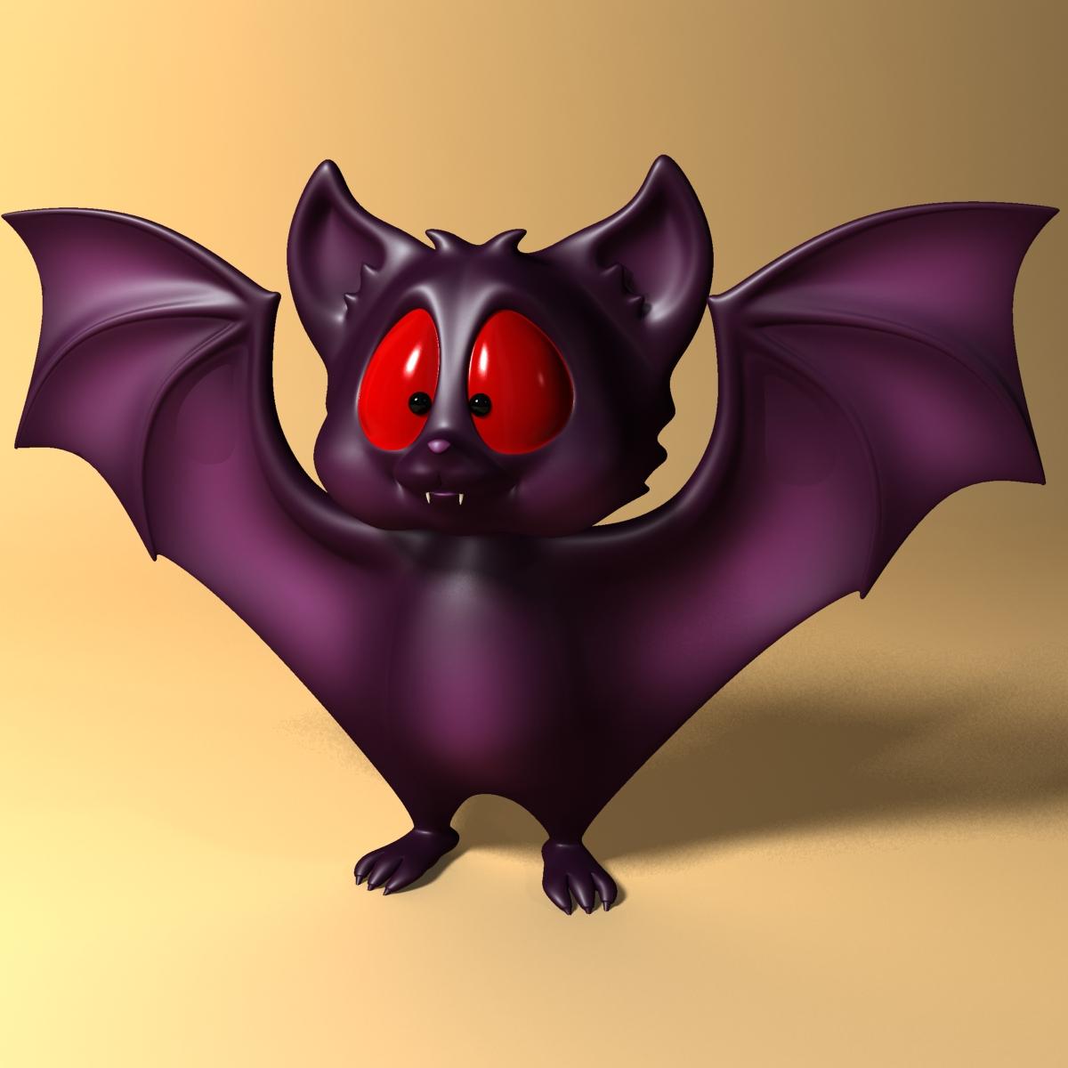 karikatūra sikspārnis rigged un animācijas 3d modelis 3ds max fbx obj 218275