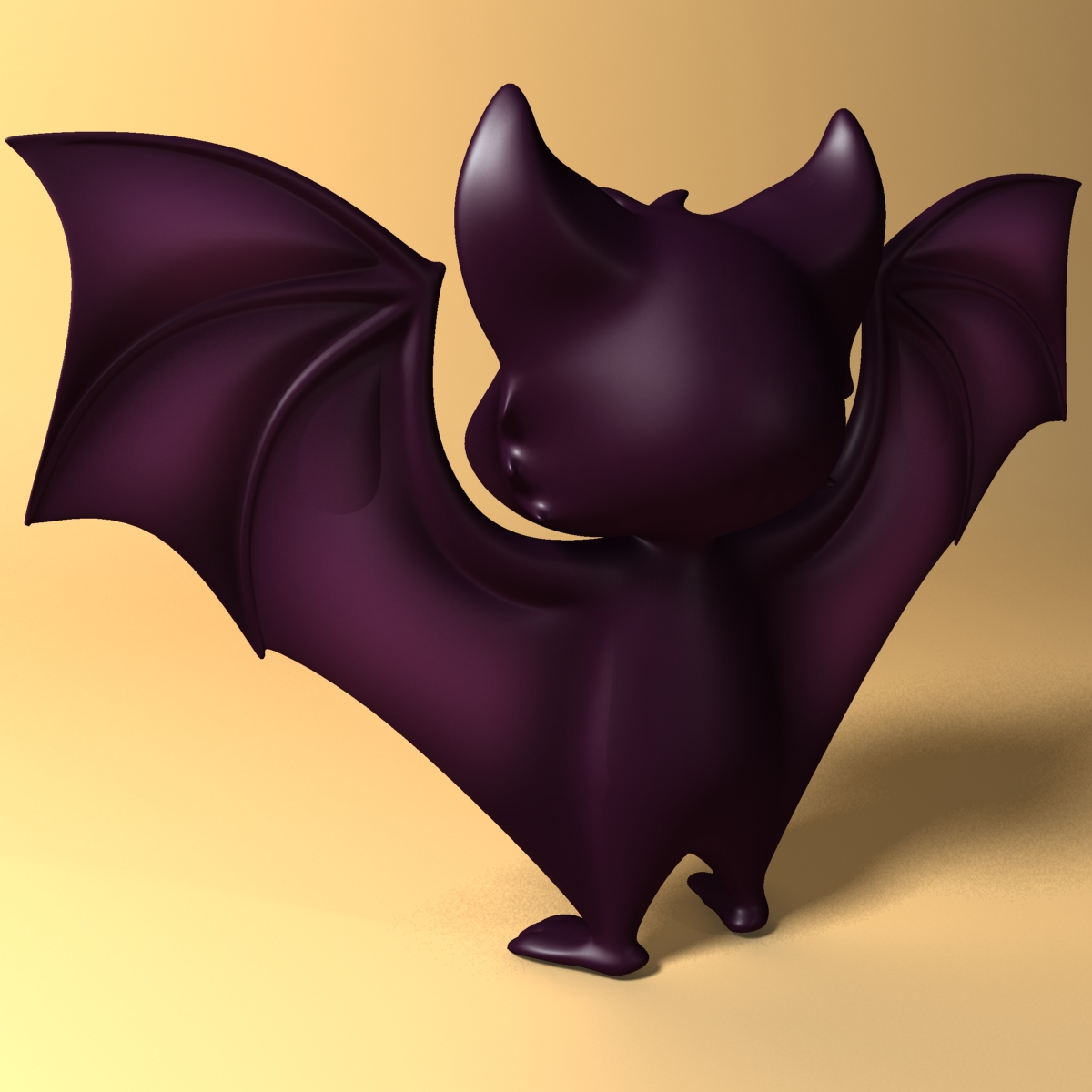 cartoon bat rigged and animated 3d model 3ds max fbx  obj 218277