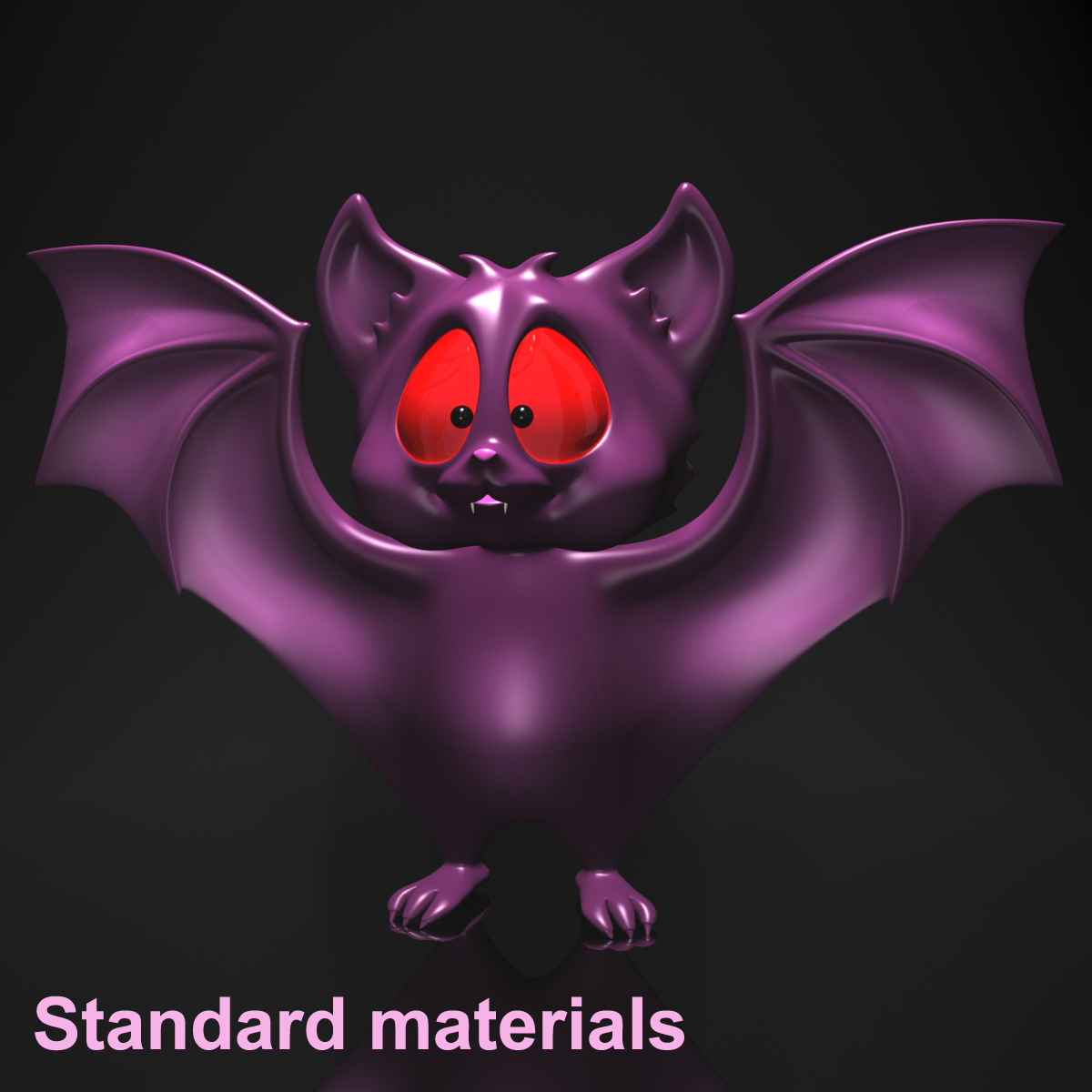 cartoon bat rigged and animated 3d model 3ds max fbx  obj 218279
