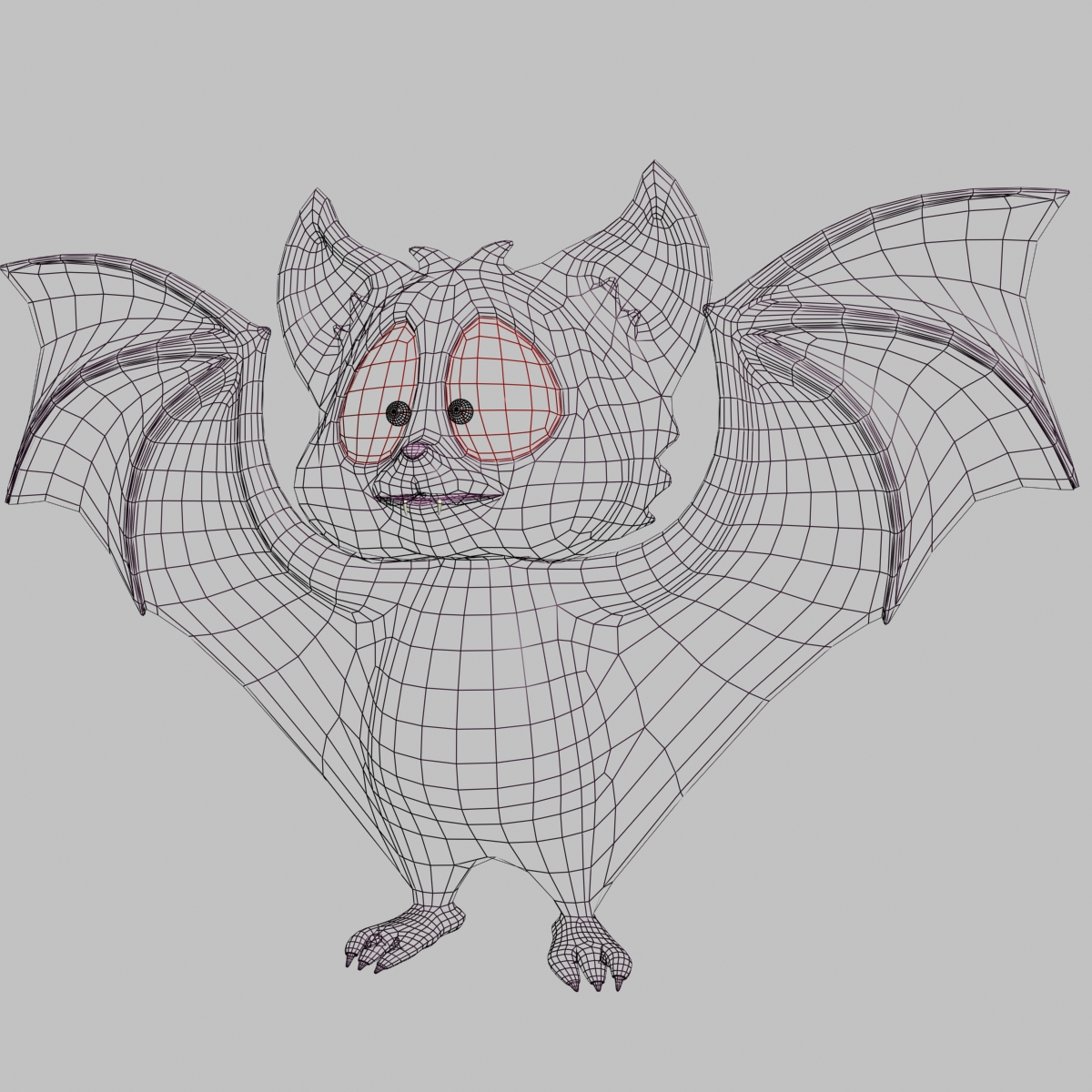cartoon bat rigged and animated 3d model 3ds max fbx  obj 218280