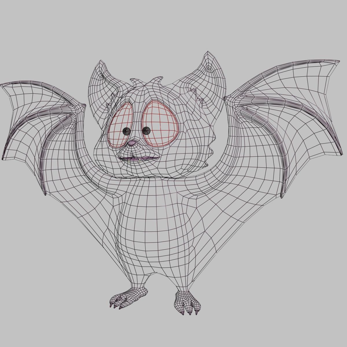 karikatūra sikspārnis rigged un animācijas 3d modelis 3ds max fbx obj 218280