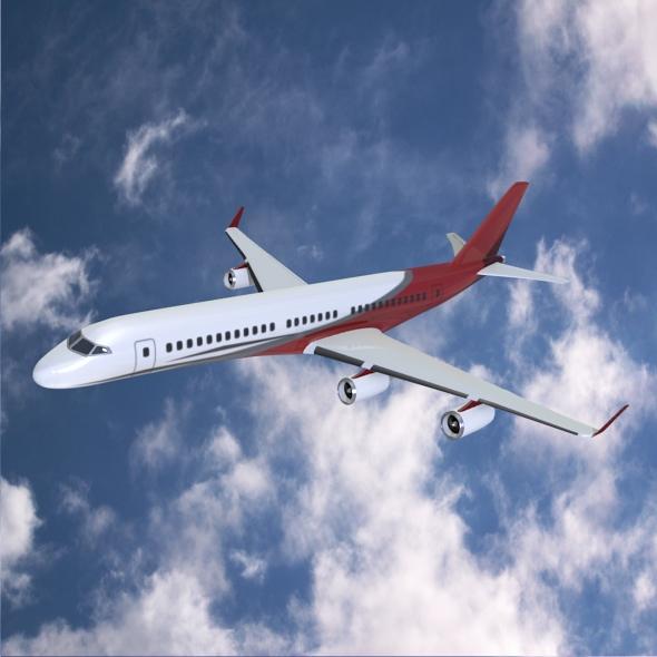 Commercial jet concept 3d model 3ds fbx blend dae lwo lws lw obj 218318