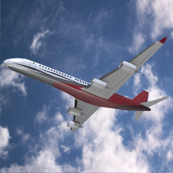 commercial jet concept 3d model 3ds fbx blend dae lwo obj 218323