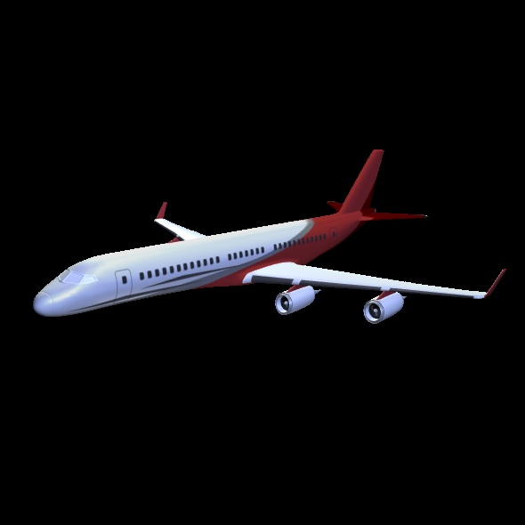 commercial jet concept 3d model 3ds fbx blend dae lwo obj 218329