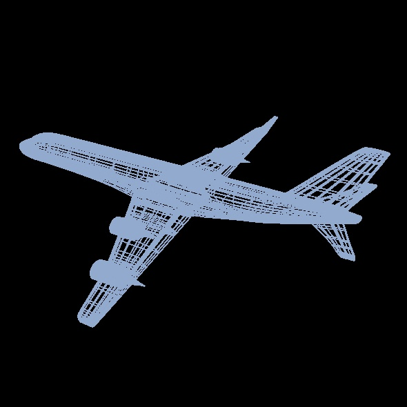 commercial jet concept 3d model 3ds fbx blend dae lwo obj 218331