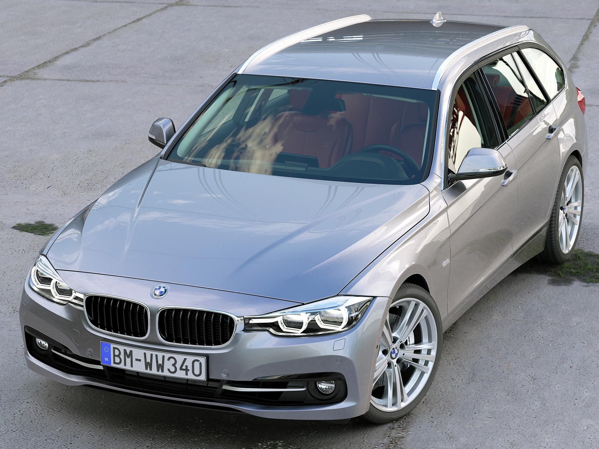BMW 3 Series Touring 2016 3d model 3ds max fbx c4d obj 218383