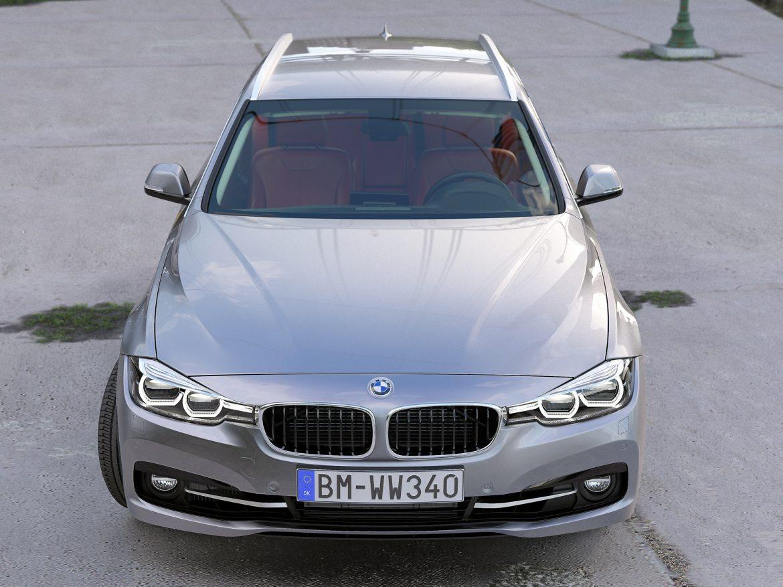 BMW 3 Series Touring 2016 3d model 3ds max fbx c4d obj