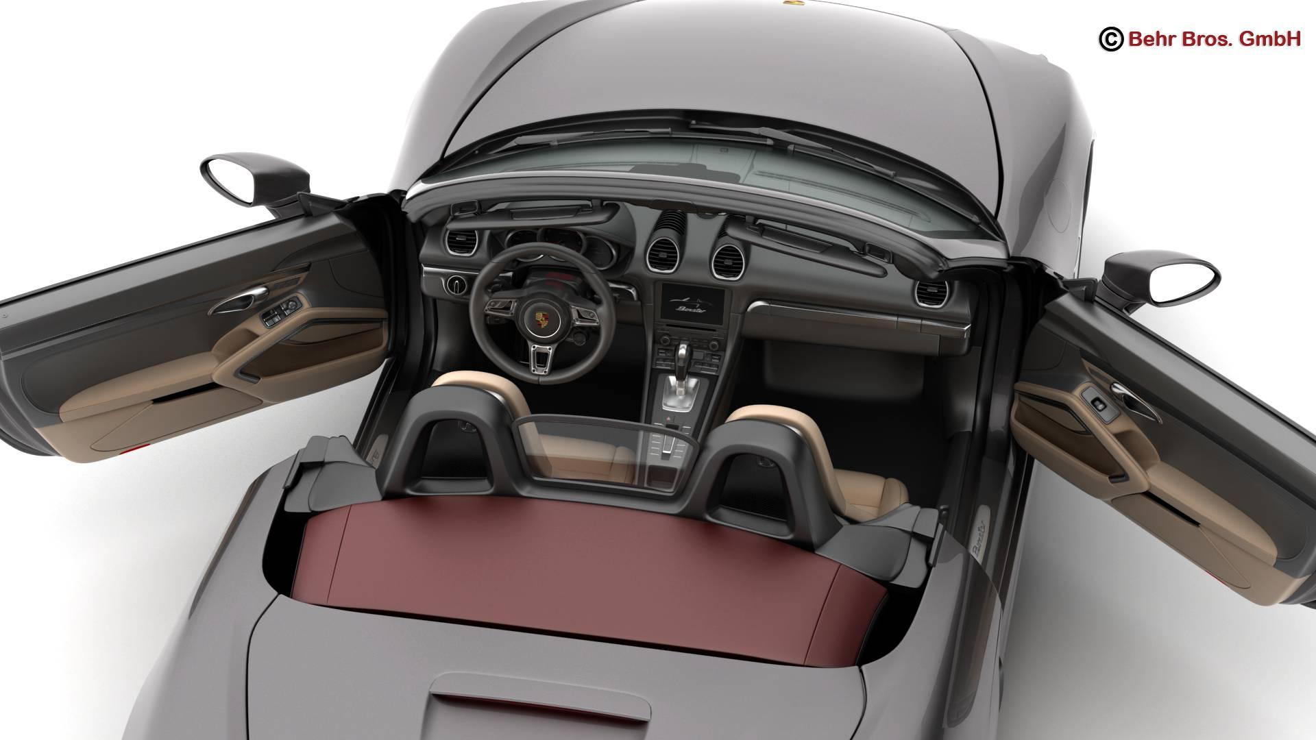 porsche 718 boxster 2017 3d model 3ds max fbx c4d lwo ma mb obj 218416