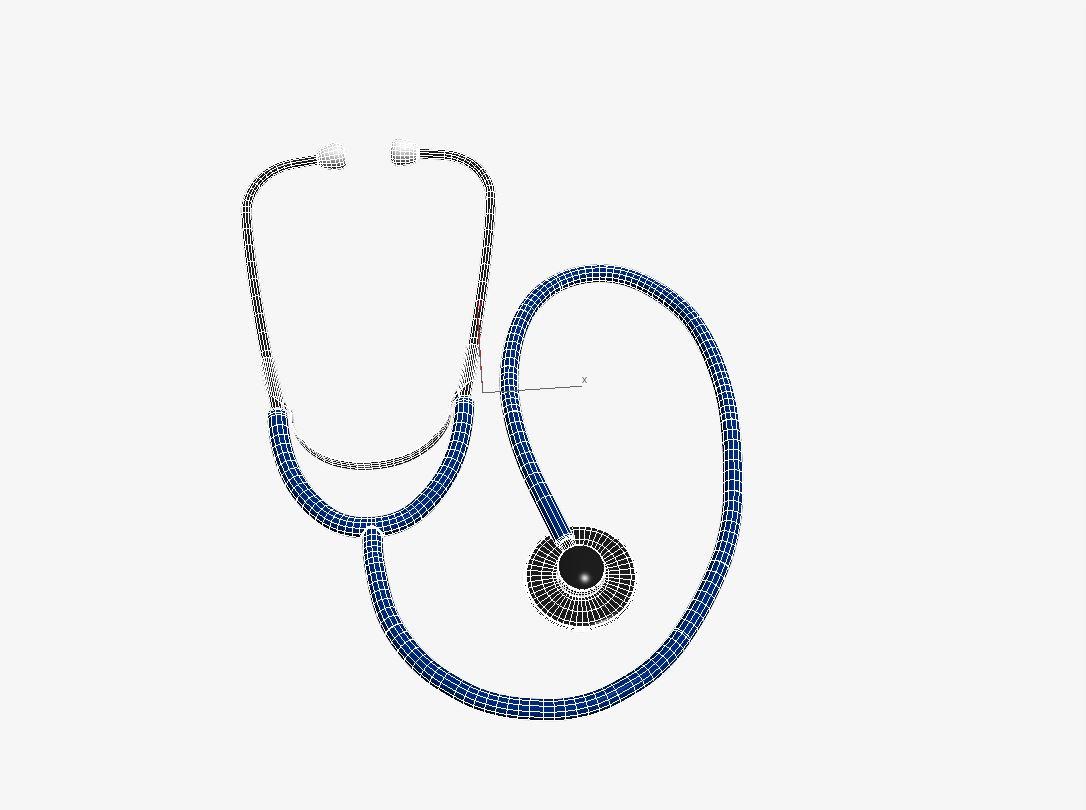 Stethoscope - model №4 3d model max