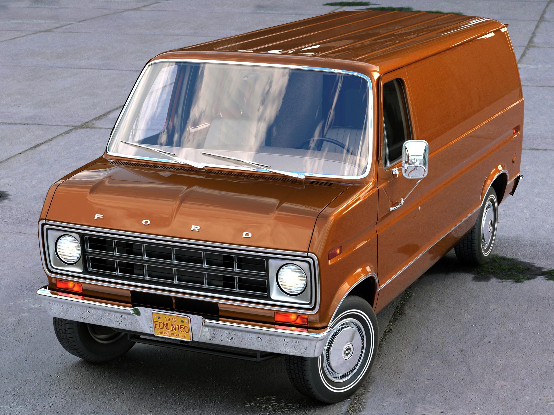 econoline cargo 1975 3d model 3ds max fbx c4d obj 218499