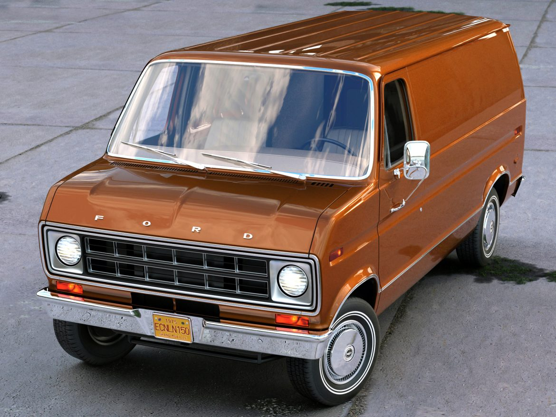Econoline Cargo 1975 3d model 3ds max fbx c4d obj