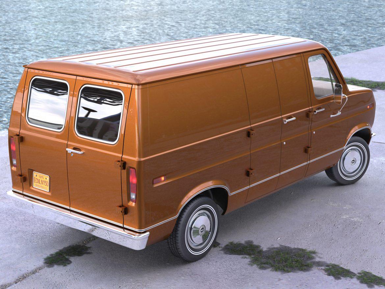 econoline cargo 1975 3d model 3ds max fbx c4d obj 218500
