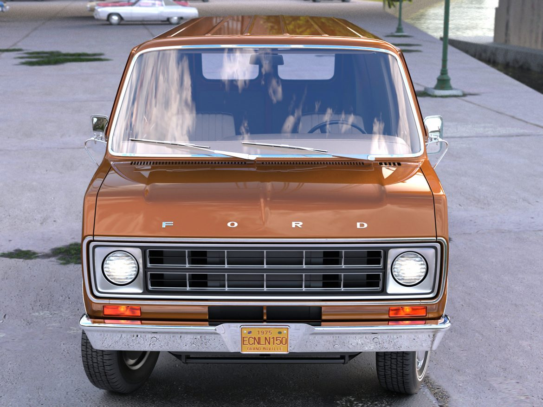 econoline cargo 1975 3d model 3ds max fbx c4d obj 218501