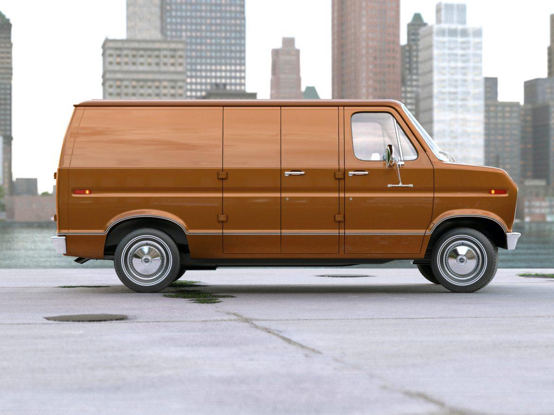 econoline cargo 1975 3d model 3ds max fbx c4d obj 218502