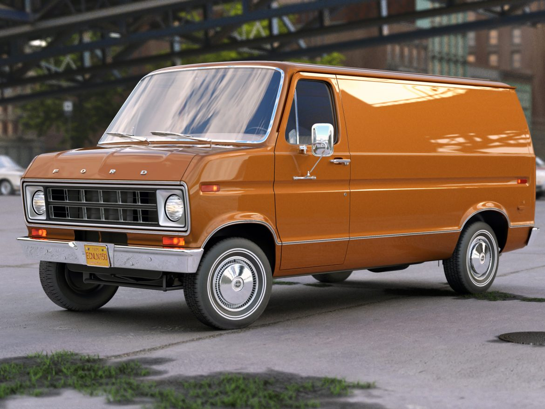 econoline cargo 1975 3d model 3ds max fbx c4d obj 218504