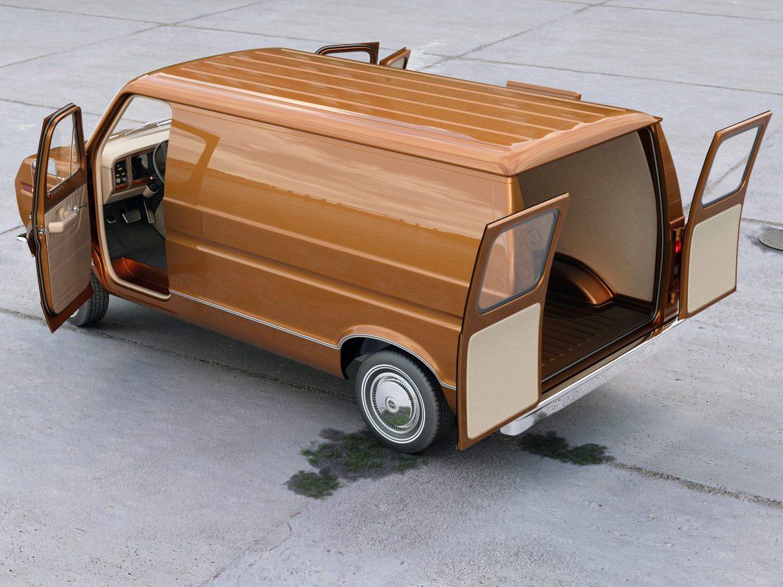 econoline cargo 1975 3d model 3ds max fbx c4d obj 218505