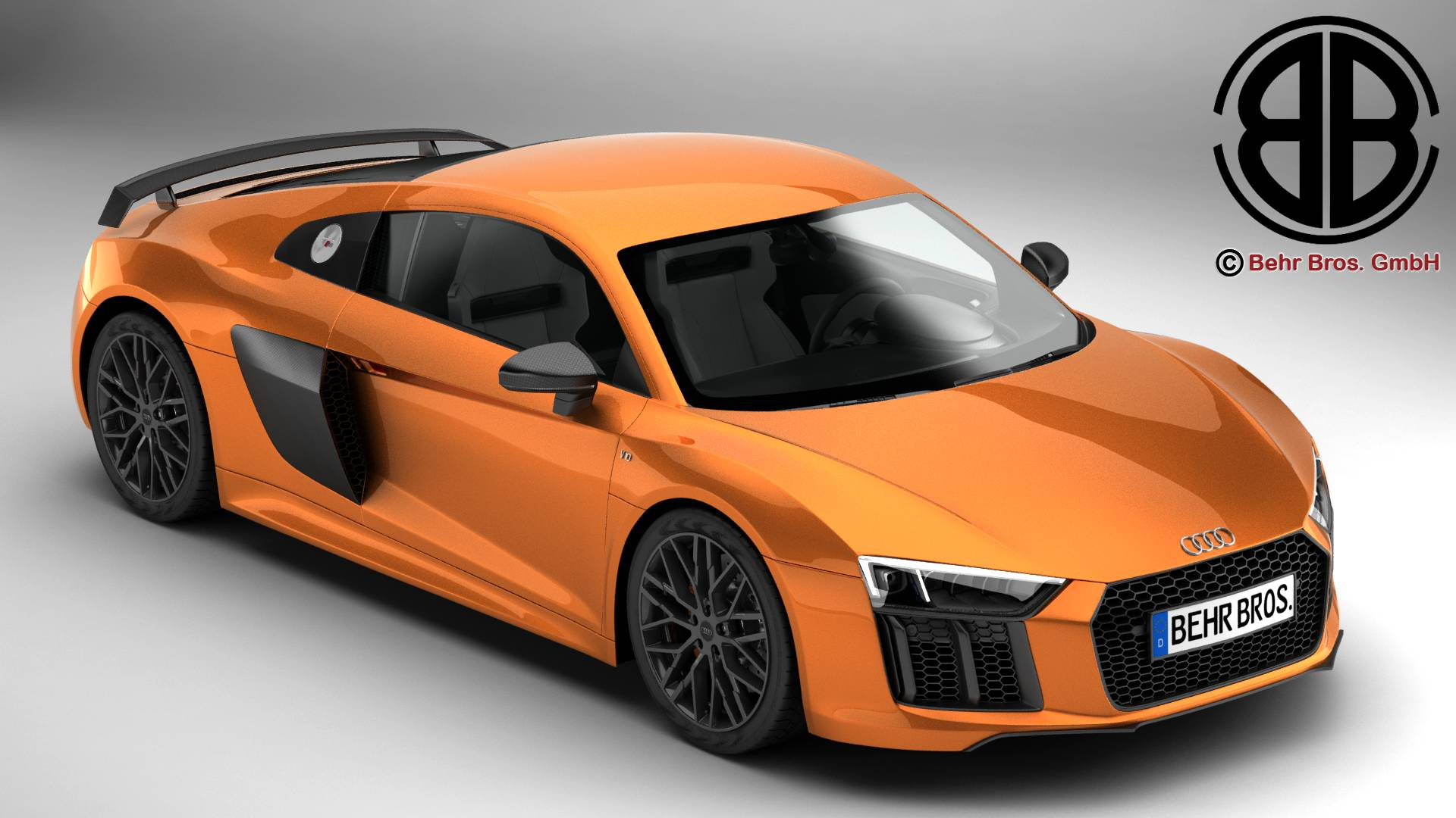 audi r8 v10 plus 2016 3d model 3ds max fbx c4d lwo ma mb obj 218512