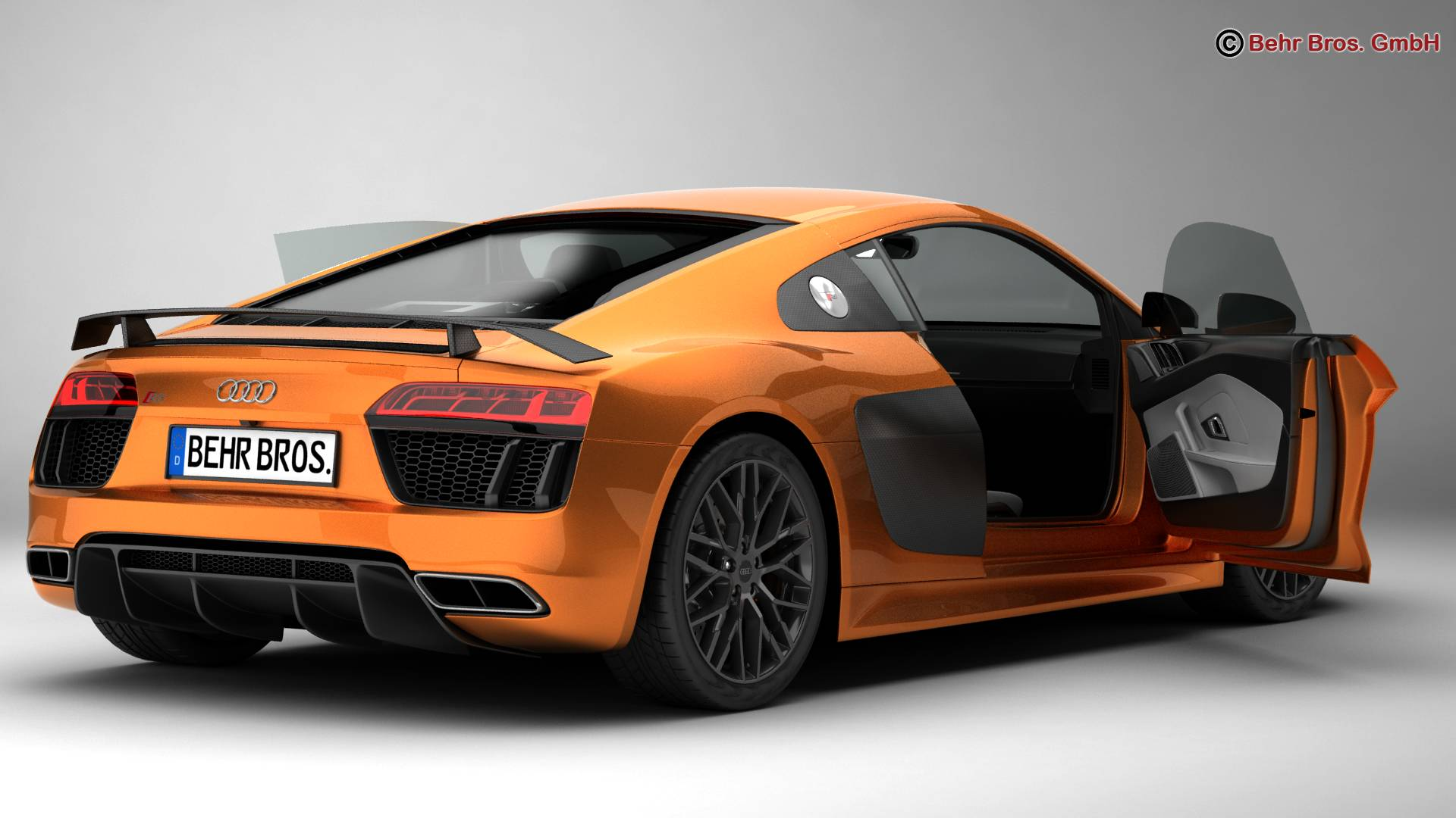 audi r8 v10 plus 2016 3d model. Black Bedroom Furniture Sets. Home Design Ideas
