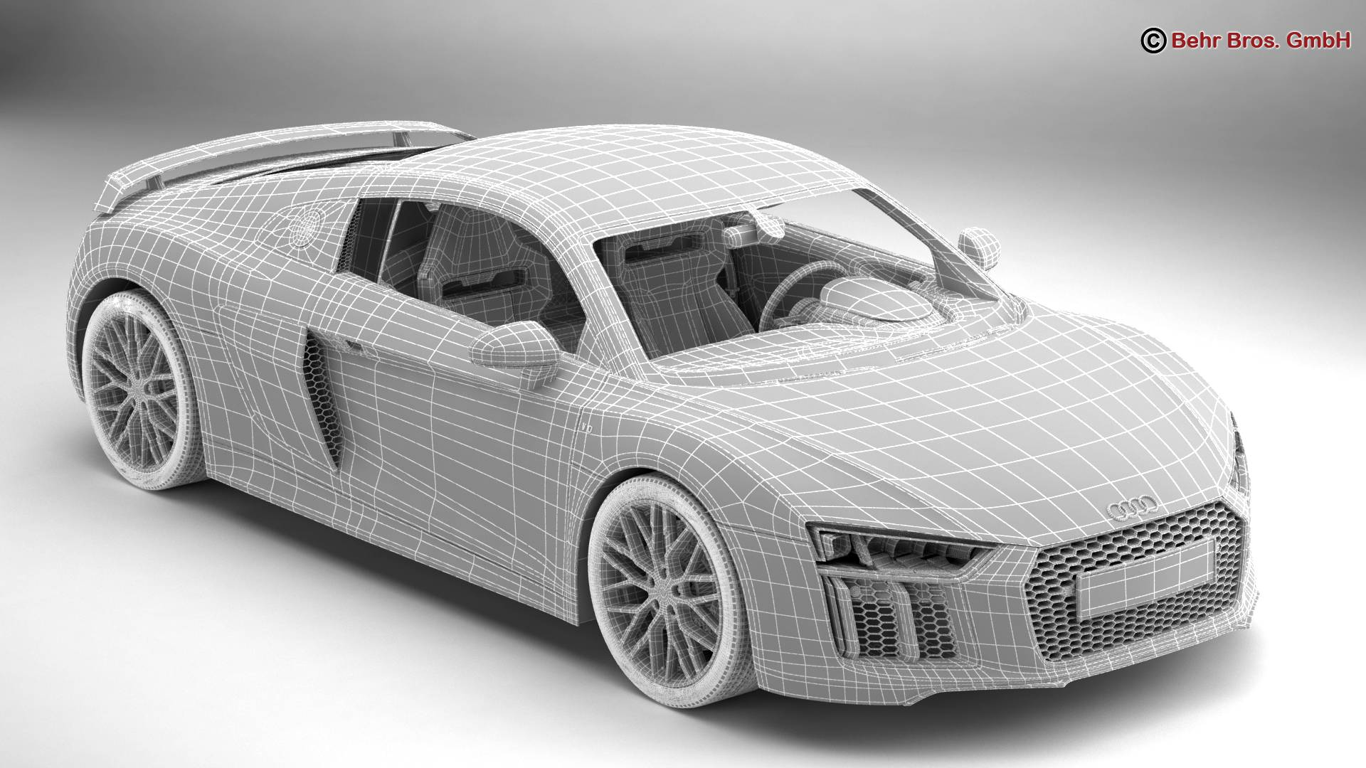 Audi R8 V10 Plus 2016 3D Model – Buy Audi R8 V10 Plus 2016 3D Model   FlatPyramid