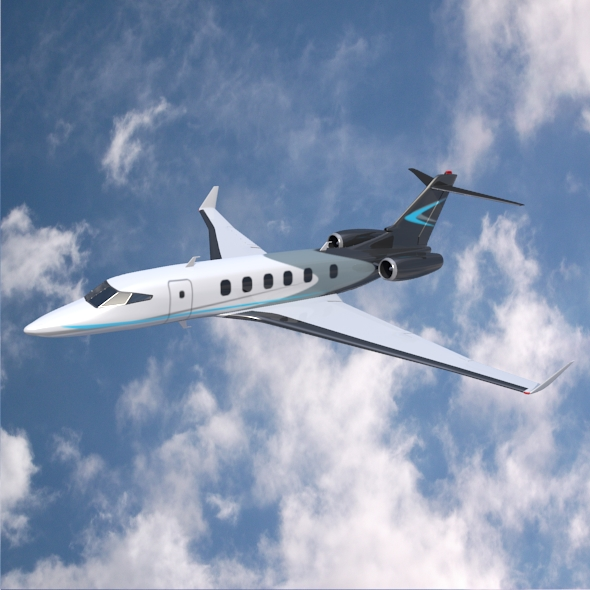 private jet concept 3d model 3ds fbx blend dae lwo obj 218544