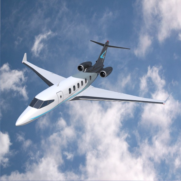 private jet concept 3d model 3ds fbx blend dae lwo obj 218545