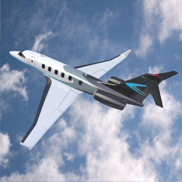 private jet concept 3d model 3ds fbx blend dae lwo obj 218546
