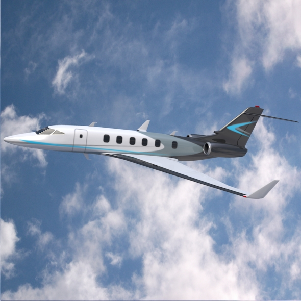private jet concept 3d model 3ds fbx blend dae lwo obj 218547