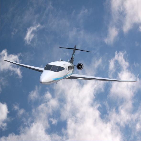 private jet concept 3d model 3ds fbx blend dae lwo obj 218548