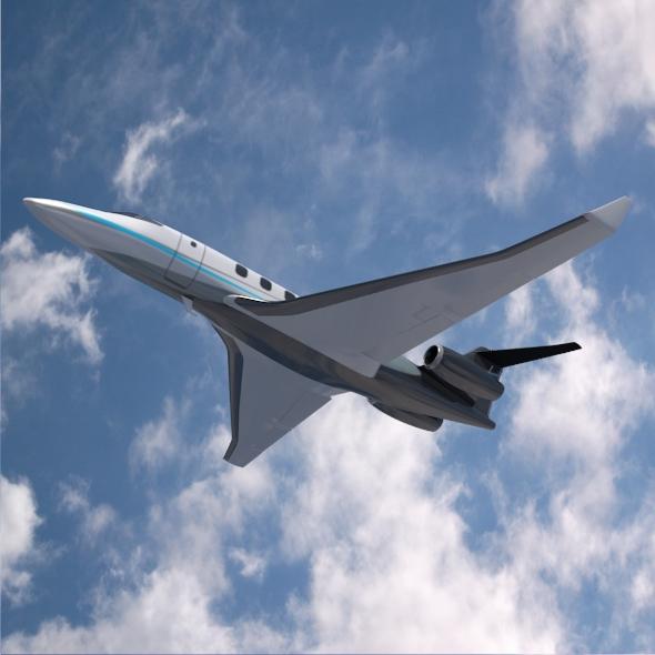 private jet concept 3d model 3ds fbx blend dae lwo obj 218549