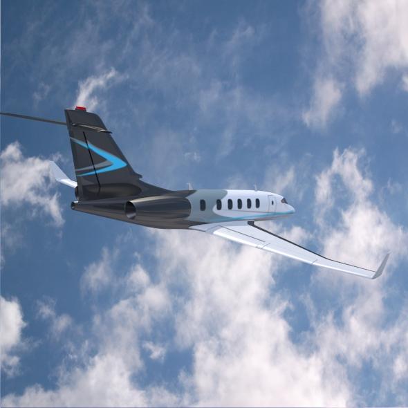 private jet concept 3d model 3ds fbx blend dae lwo obj 218550
