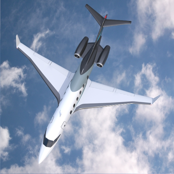 private jet concept 3d model 3ds fbx blend dae lwo obj 218551
