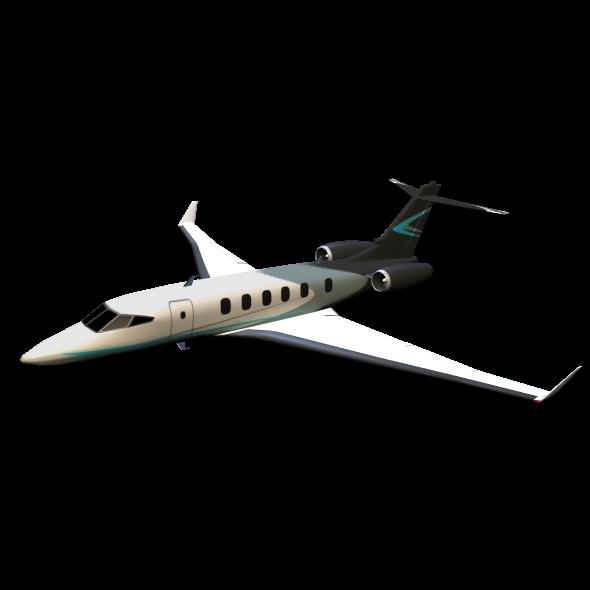 private jet concept 3d model 3ds fbx blend dae lwo obj 218552