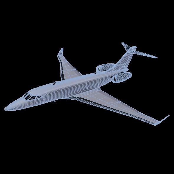 private jet concept 3d model 3ds fbx blend dae lwo obj 218553