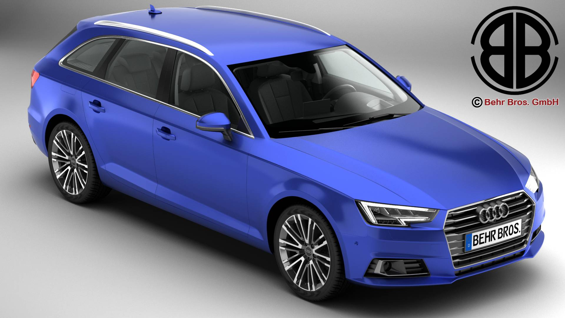 Audi a4 avant 2016 3d model 3ds max fbx c4d le do thoil 218555