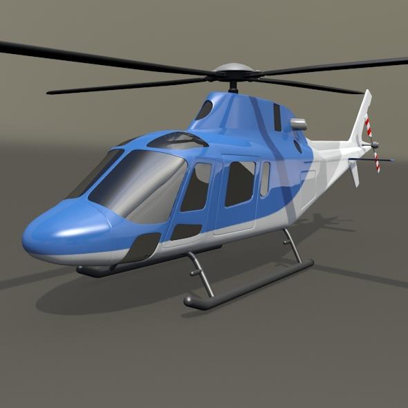 agusta westland aw119 koala helicopter 3d model 3ds fbx blend dae lwo obj 218587
