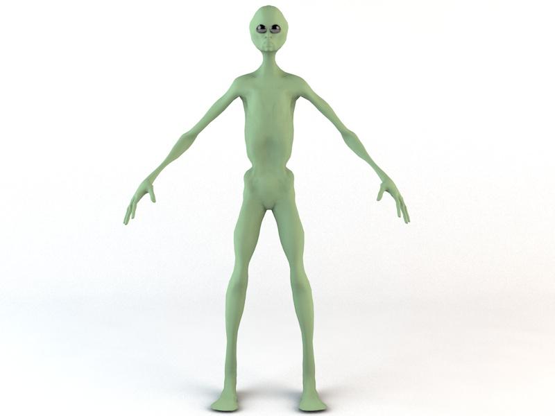 alien character 3d model 3ds fbx c4d dae obj 218598