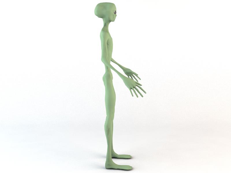 alien character 3d model 3ds fbx c4d dae obj 218599