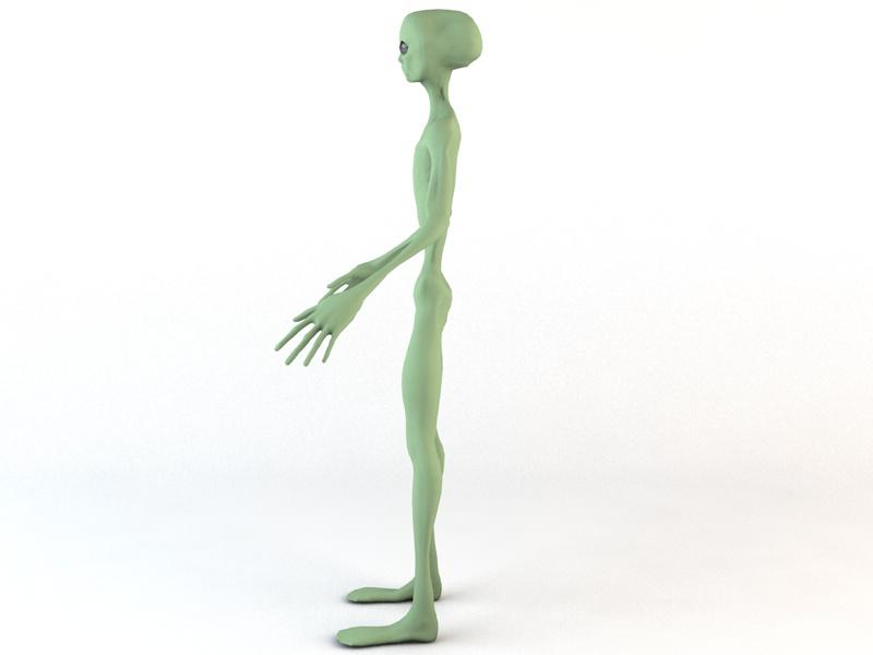 alien character 3d model 3ds fbx c4d dae obj 218601