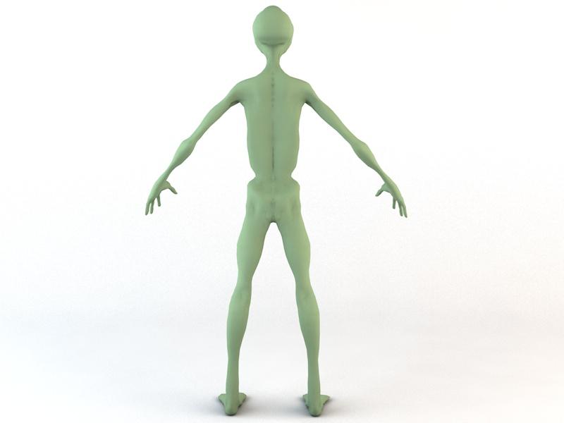 Alien Character 3d model 3ds fbx c4d dae obj