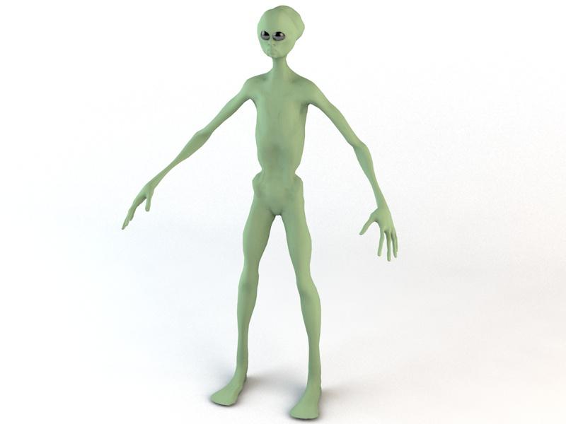 alien character 3d model 3ds fbx c4d dae obj 218602