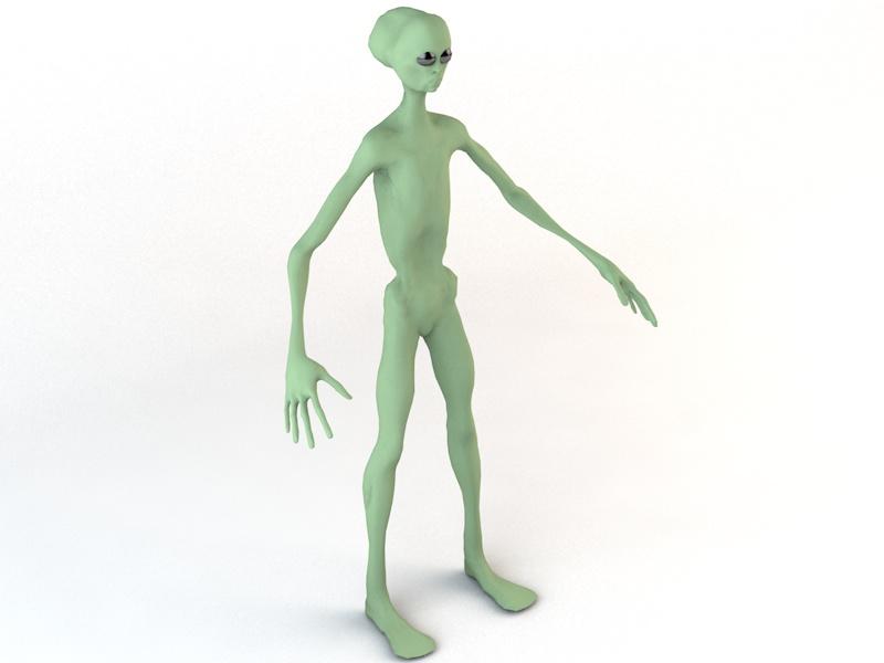 alien character 3d model 3ds fbx c4d dae obj 218603