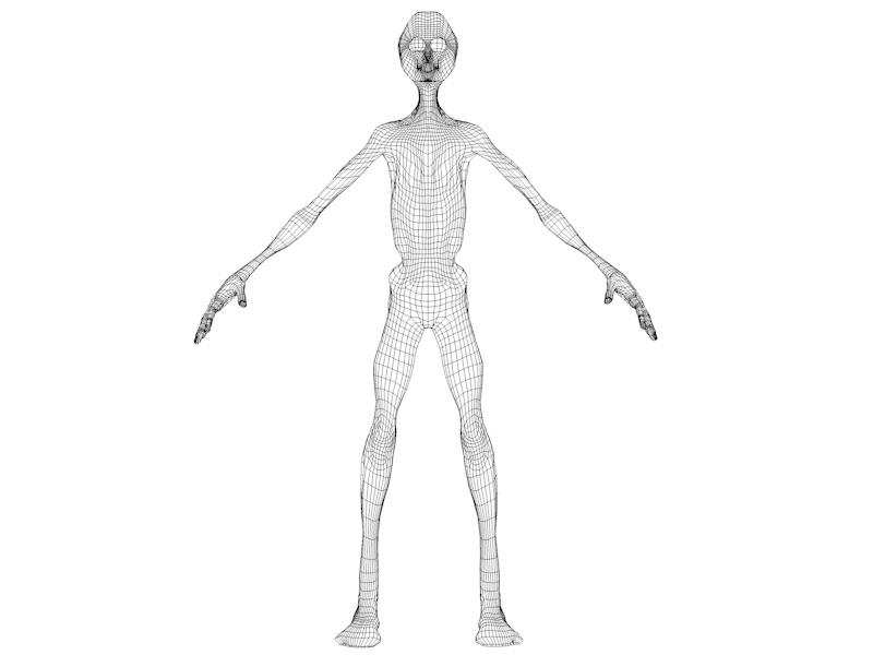 alien character 3d model 3ds fbx c4d dae obj 218607