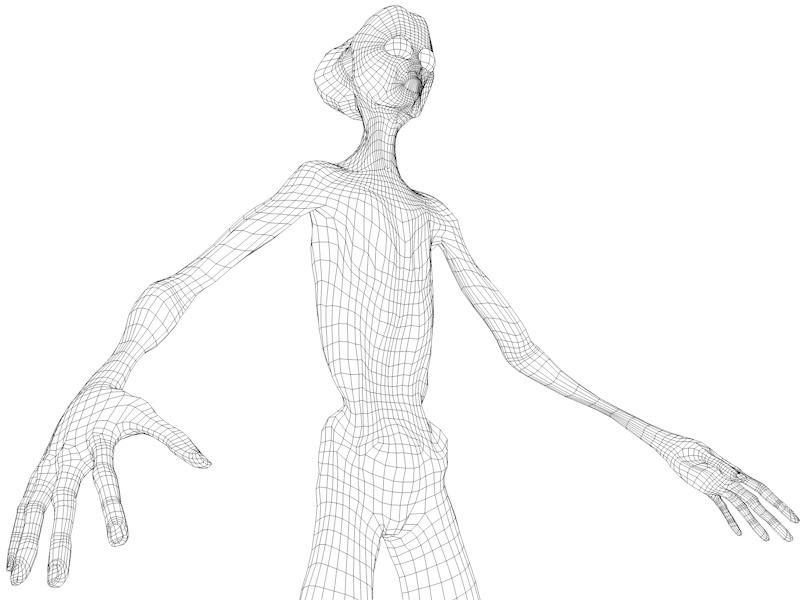 alien character 3d model 3ds fbx c4d dae obj 218608