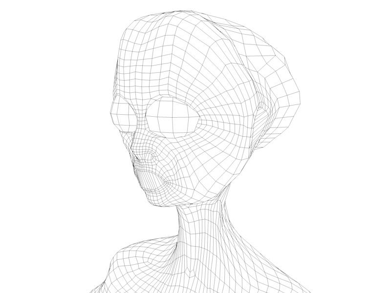 alien character 3d model 3ds fbx c4d dae obj 218609