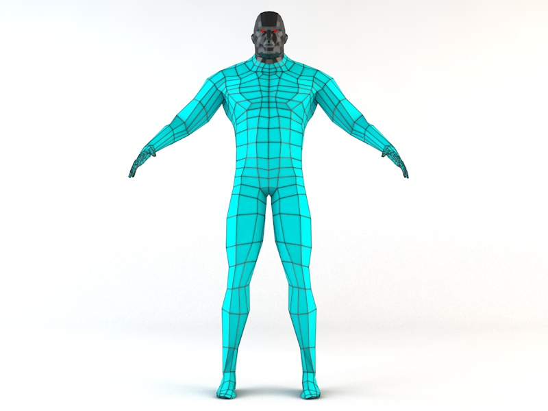 Futuristic Male Human Game Character 3d model 3ds fbx c4d dae obj 218614