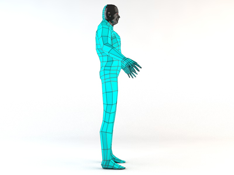 futuristic male human game character 3d model 3ds fbx c4d dae obj 218615