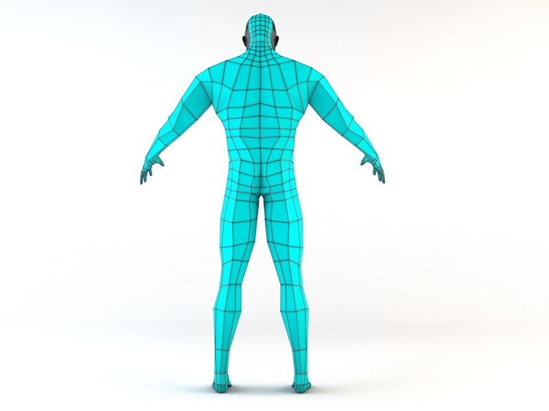 futuristic male human game character 3d model 3ds fbx c4d dae obj 218616
